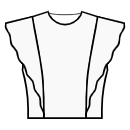 Princess front seam: shoulder to waist with flounce