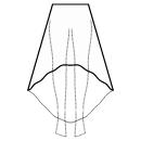 High-low (FULL) 1/3 circle skirt