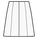 8-panel skirt