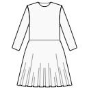 1/3 circle skirt at waist