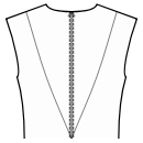 Back princess seam: shoulder to waist center