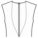 Back princess seam: neck top to waist center