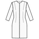 Front center zipper