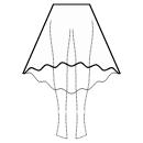 High-low (MAXI) circular skirt