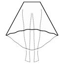 High-low (ANKLE) semi circular skirt