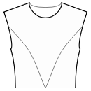 Princess front seam: upper armhole to center waist