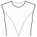 Princess front seam: upper armhole to center waist