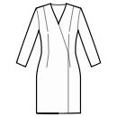 No waist seam, straight skirt