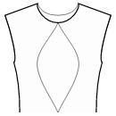 Princess front seam: neck center to waist center