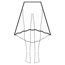 High-low (MAXI) 1/3 circle skirt