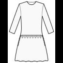 Gathered skirt at low waist