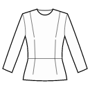 Top with waist seam