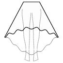 High-low (FULL) circular skirt