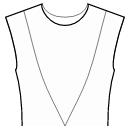 Princess front seam: shoulder to waist center