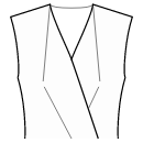 Front neck top and center waist darts