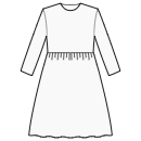 Gathered skirt at high waist
