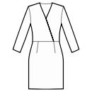 Dress with waist seam
