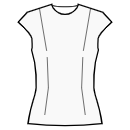 Top without waist seam