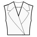 Oversized jacket style collar