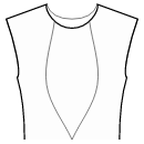 Princess front seam: neck to waist center