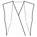 Front neck top and side waist darts