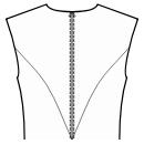 Back princess seam: upper armhole to waist center