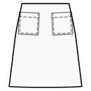 A-line skirt with patch pockets