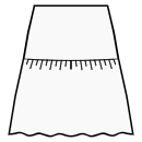 A-line skirt with gathered flounce