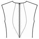 Back princess seam: neck to waist center