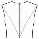 Back princess seam: shoulder end to waist center