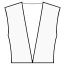 No collar for plunging neckline