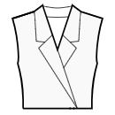 Jacket style collar with standard lapel