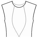 Princess front seam: neck to waist center