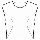 Princess front seam: upper armhole to side waist