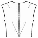 Back shoulder and waist center darts