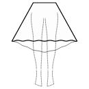 High-low (MIDI) semi circular skirt