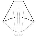 High-low (FULL) semi circular skirt
