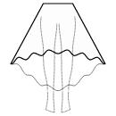 High-low (ANKLE) circular skirt