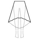 High-low (TEA) 1/3 circle skirt