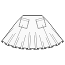 Circular skirt with patch pockets