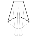 High-low (ANKLE) 1/3 circle skirt