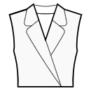 Jacket style collar with rounded lapel
