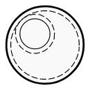 Round pocket with round opening
