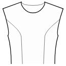 Princess front seam: upper armhole to waist
