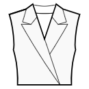 Jacket style collar with shaped lapel