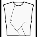 Asymmetrical pleats