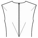 Back end of shoulder and center waist dart