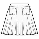 1/3 circle skirt with patch pockets