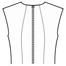 Back princess seam: neck to waist