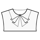 Collar with 3 pleats